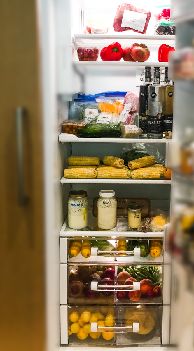 Betsy's Refrigerator Filled with Local Foods