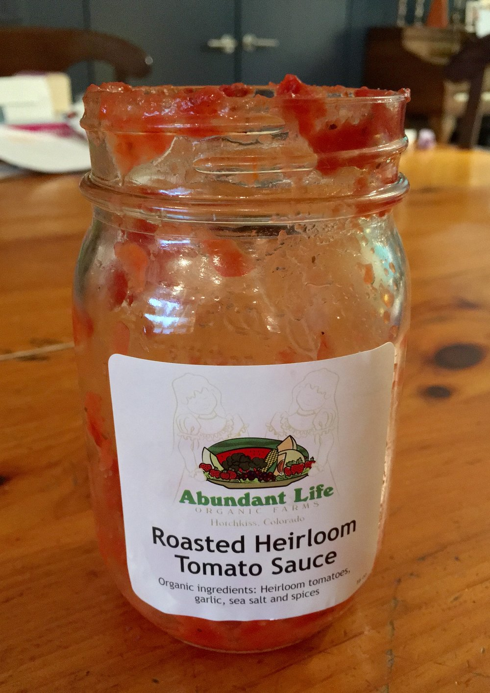 Roasted Heirloom Tomato Sauce from Abundant Life Farms from Meredith's Dinner