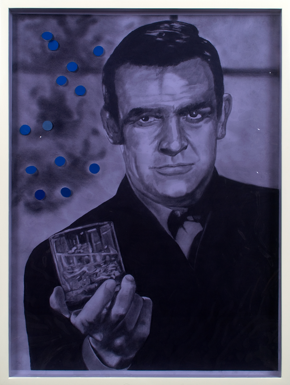"no.9- Untitled (James Bond) pencil on paper, vinyl, 21""x28""/ 53cmx71cm, 2007/08"
