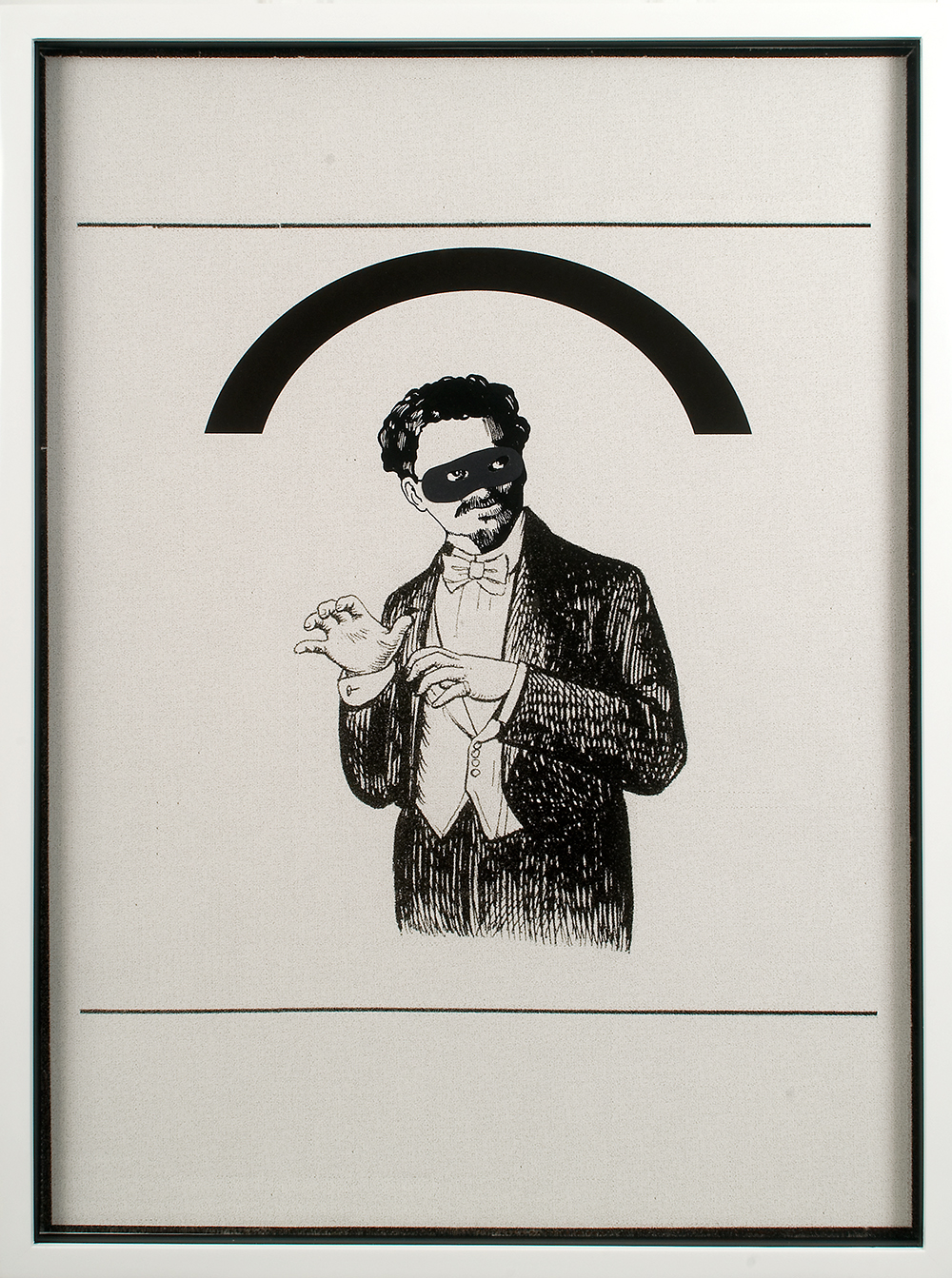"no.23- Untitled (Leon Trotsky)  ink on paper, ink jet print, 21""x28""/ 53cmx71cm,               2007/08"