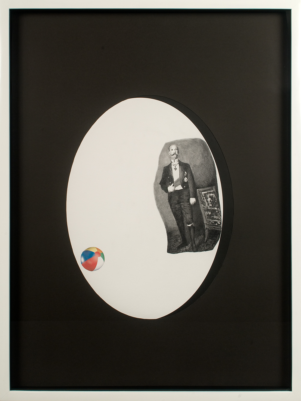 "no.26- Untitled (George I of Greece) pencil on paper, ink jet print, 21""x28""/ 53cmx71cm,            2007/08"