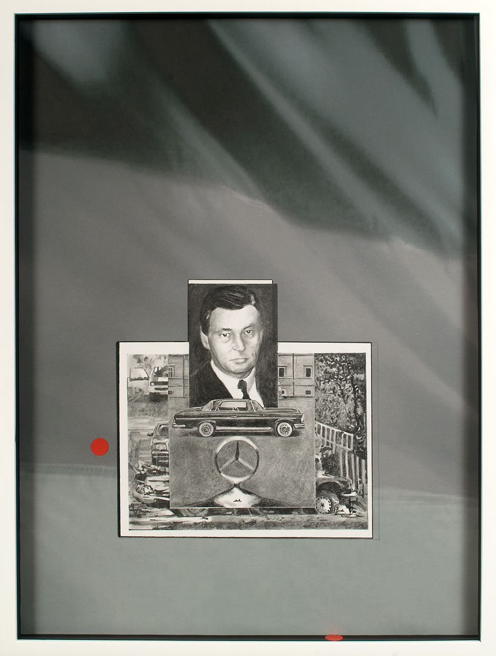 "no.35- Untitled (Alfred Herrhausen) pencil on paper, ink jet print, 21""x28""/ 53cmx71cm,             2007/08"