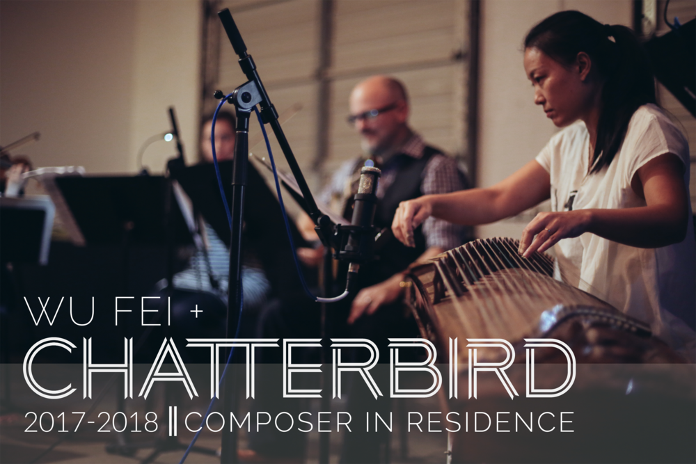 chatterbird ensemble and Wu Fei, Chinese zither guzheng player, musician and composer in Nashville, TN. Beijing.
