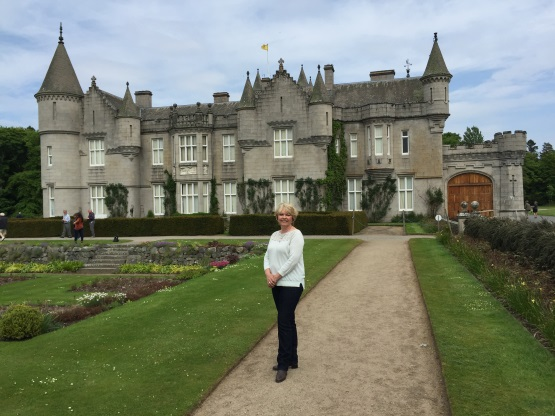 Sue at Balmoral Castle
