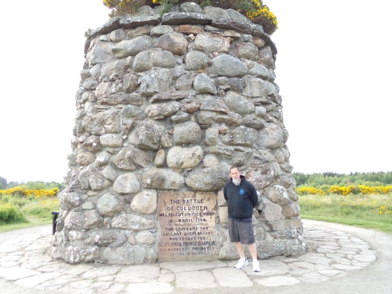Jerry at Culloden Battle Monument