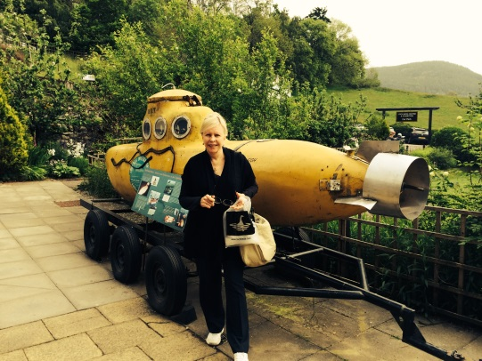 Connie with submarine