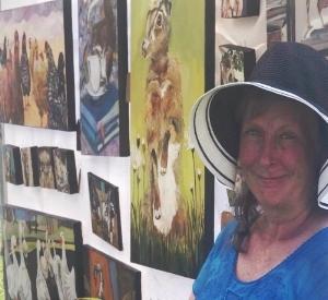 Artist Janice Ykema at the Oakville Art in the Park