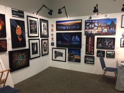 Artist Steve Wilson's booth at the Carmel Fine Art and Music Festival.