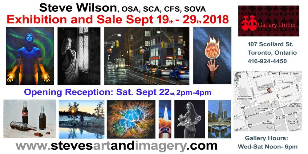 Artist Steve Wilson had some sales at his recent exhibition in the Hittite Gallery in Yorkville.