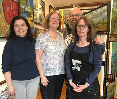 From left to right, Margaret Pardy, Lynden Cowan,Robert Chisholm and Joanne Lomas.