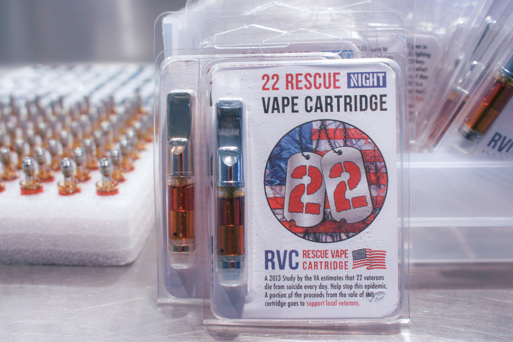 PTSD Rescue Vape cartridge with CBD and THC cannabis oil night blend.jpg
