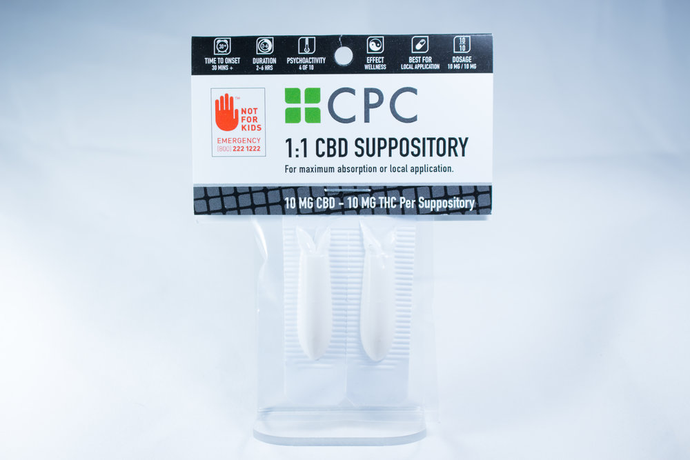 1:1 CBD THC cannabis oil suppository