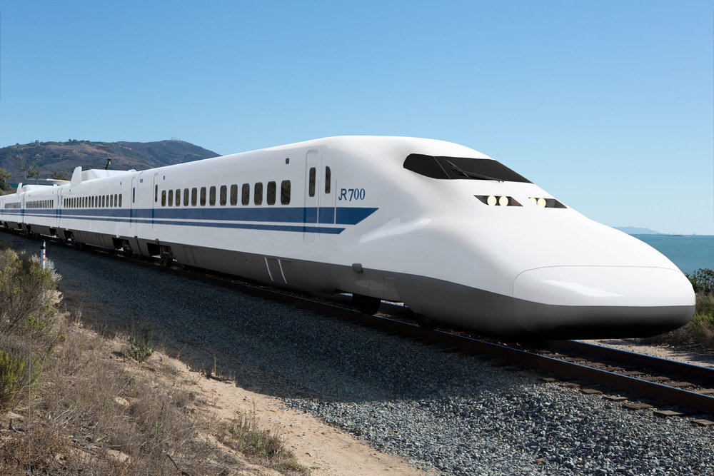 Nozomi Shinkansen spotted near Santa Barbara