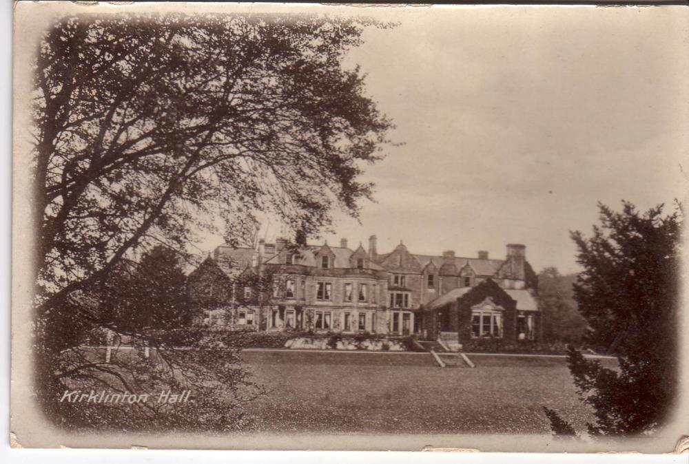 Kirklinton Hall - Postcard 1904