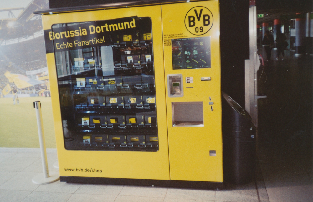 And just in case you forgot to get a present for the loved ones, there's always the Dortmund Vending Machine in the Airport. Everything €20. No Change Given.  Read more LFC European Away tales in Dave's book 'Places I Remember' available from www.80scasuals.co.uk