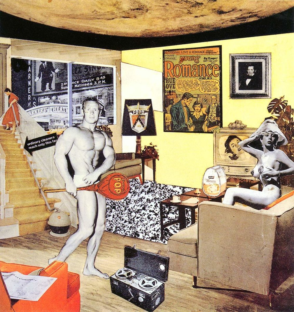 'Just What Is It That Makes Today's Homes So Different, So Appealing?' (1956) by Richard Hamilton