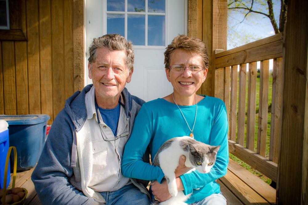 Buddie Brooks and Leslie Petri of Smiling Dog Farm