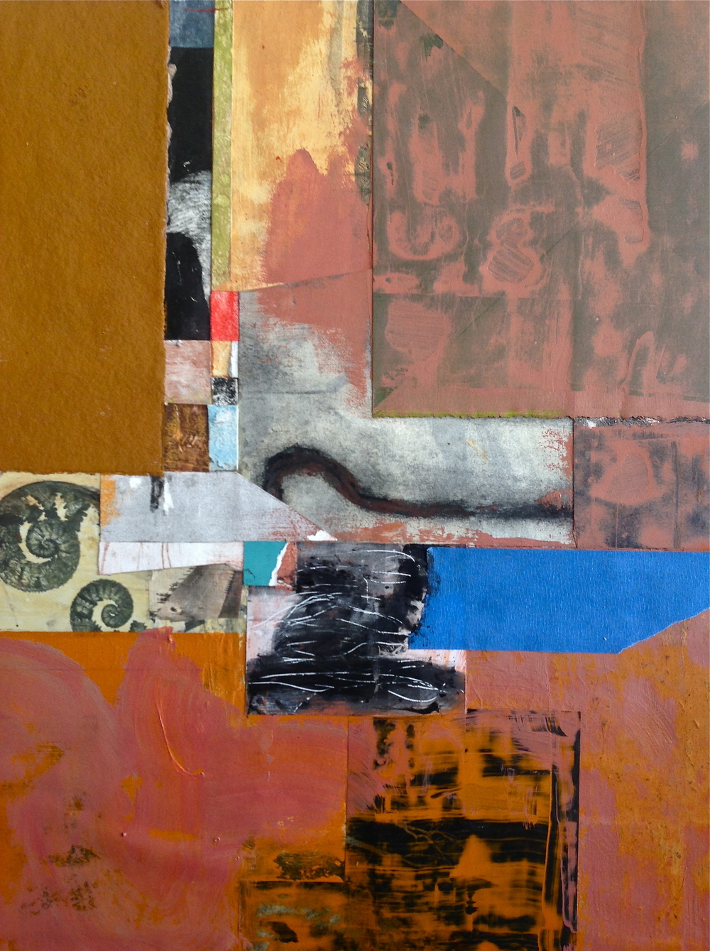 Mark Eanes, Untitled XII, 2013. Mixed media on panel, 18 x 24 inches.