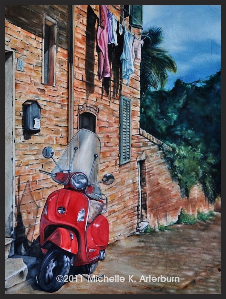 """Watercolor - """"Appian Byway"""""""