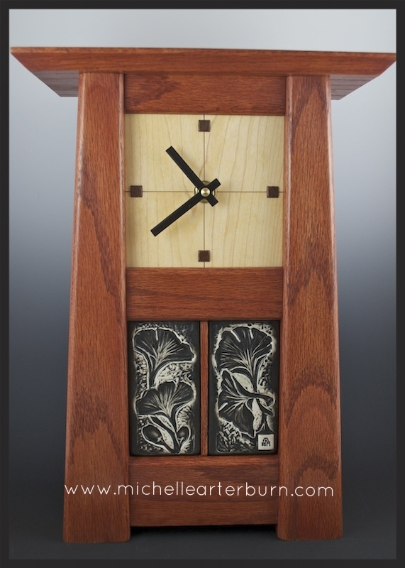 Porcelain Tiles/Wooden Clock