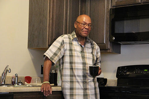 Maurice Robinson's lifelong battle with addiction took him in and out of prison for most of his life. Now he's nearly 64, is four months sober and has an apartment at Freedom House he can call his own. TIM LLOYD |ST. LOUIS PUBLIC RADIO