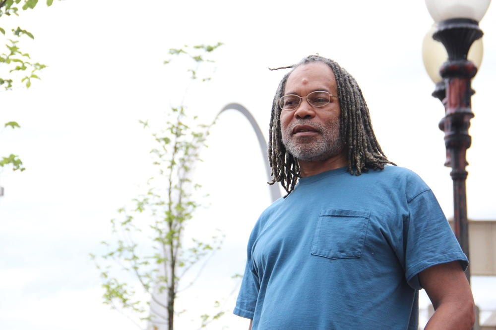 Melvin Bain, a homeless Navy veteran, has a criminal record that included nonviolent offenses which he said makes it hard for him to find a job and get back on his feet. TIM LLOYD | ST. LOUIS PUBLIC RADIO