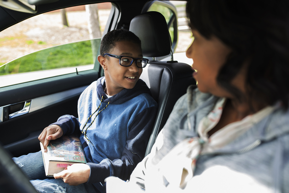 Bryson Mahari, a seventh-grader, lives in the city of St. Louis but attends school in the Clayton school district as a part of the region's voluntary desegregation program. CAROLINA HIDALGO | ST. LOUIS PUBLIC RADIO