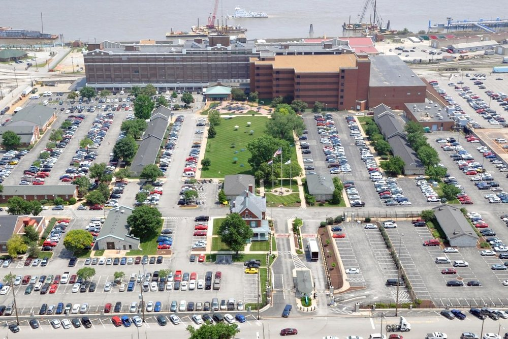 An aerial view of the NGA, which plans to move from its current facility in south St. Louis to a new one in north St. Louis. COURTESY OF NGA