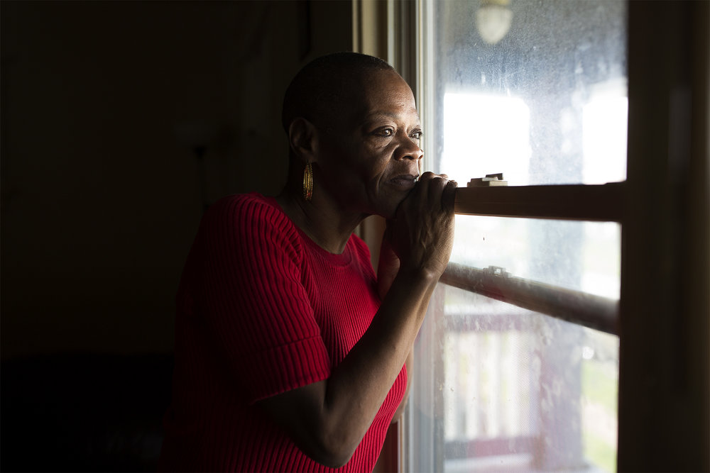 Rosetta Watson moved to Maplewood, Mo. to escape an abusive ex-boyfriend. But when he found her -- and subsequently beat her up -- Watson called for help. But this kept happening, and town officials took notice. Eventually, they told Watson the police service calls to her home constituted a public nuisance, and as punishment, they kicked her out of town. Watson is now suing the city in federal courts, and she has the backing of local and national legal and housing advocates. Hear her story in the latest episode of We Live Here. PHOTO BY CAROLINA HIDALGO | ST. LOUIS PUBLIC RADIO