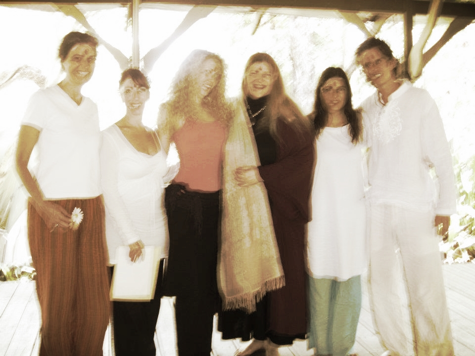 Me, at Sivananda Nassau, Bahamas, at the Yoga Peace Ambassador Certification program, with Elaine Valdov, of the United Nations.   This is how blurry the original picture was.  We decided it was all the good energy present at graduation :)