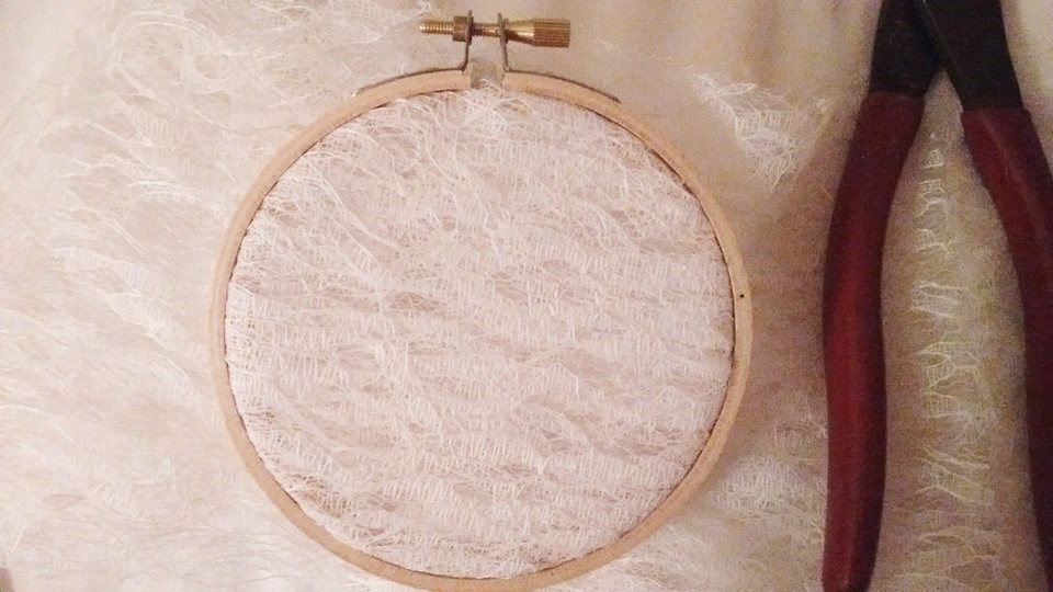 This is what your hoop will look like with the lace on it.