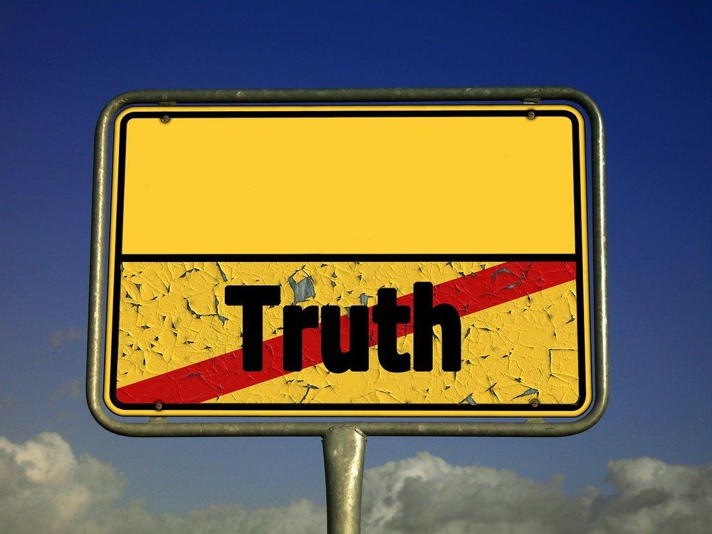 telling the truth vs something else