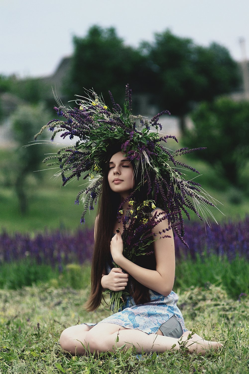 Wild and Free.  Girl in the flowers living the dream