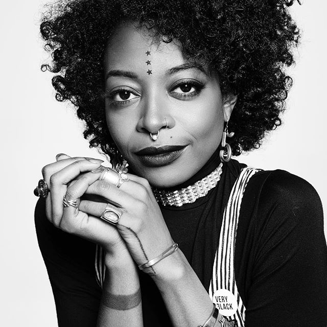 """Introducing the lovely and brilliant Trae Harris (Newlyweeds, Orange is the New Black) as our leading lady, Carrie Cook!  Carrie will invite you to the protest at a party and take a shot with you right after.  Wonder Woman ain't got shit on her.  This summer she's """"sick and tired of this shit."""" What's Carrie gonna do?  #TraeHarris #BodyMoreMovie #BlackGirlMagic #BlackFilm"""