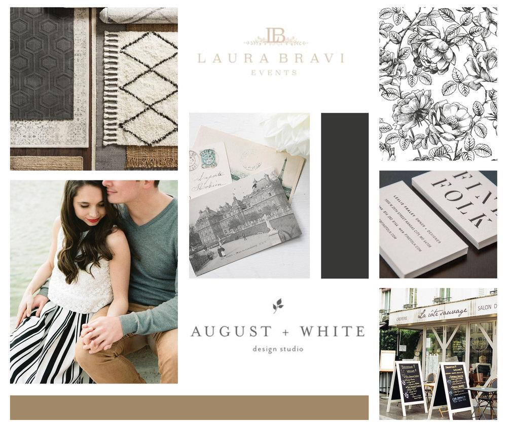 Jessica Lynn Tucker Photography – timeless wedding photographer – Hayley Bigham Designs – Tulsa Oklahoma Branding Studio – floral badge logo - moodboard