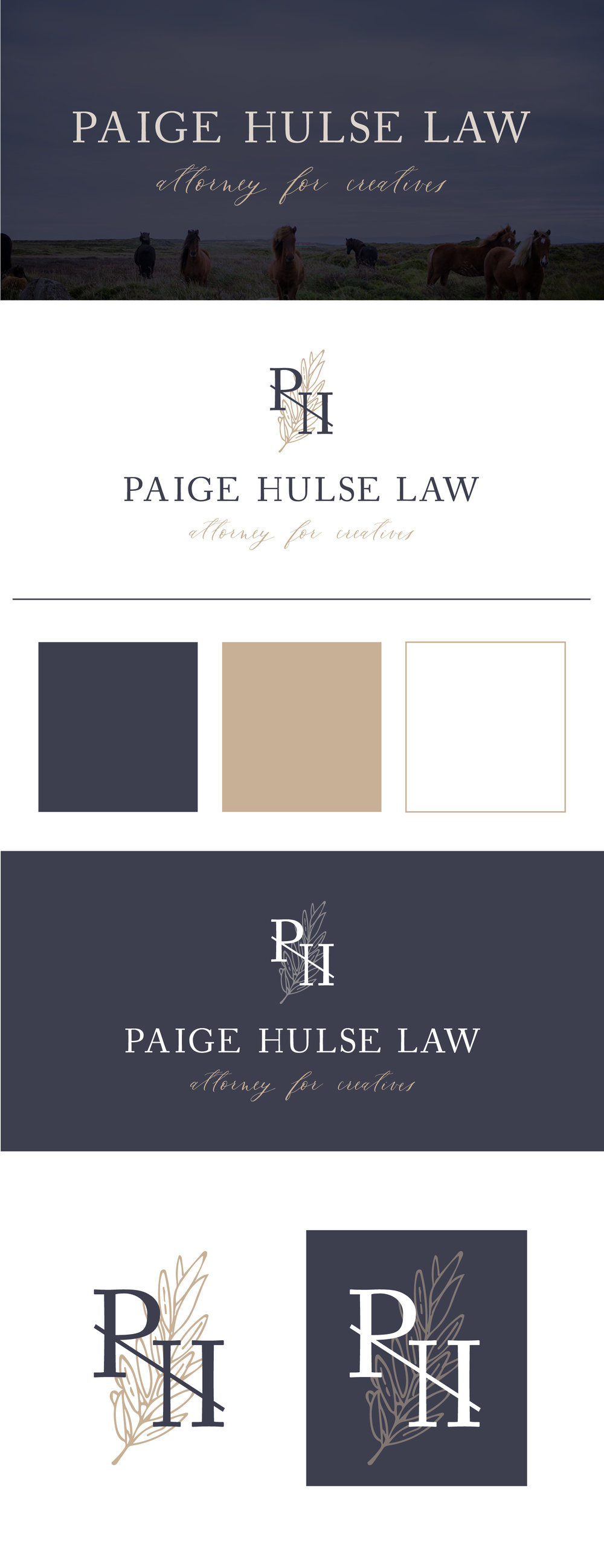 Hayley bigham designs paige hulse law logo design stationary paige also needed business cards to be able to market herself in person and bring the brand full circle we created a two toned card on the thickest cotton magicingreecefo Image collections