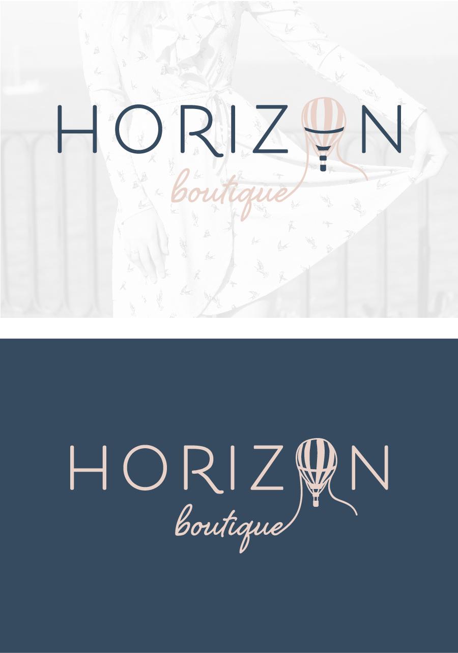hayley bigham designs-tulsa graphic designer-Horizon boutique-feminine online clothing-logo design