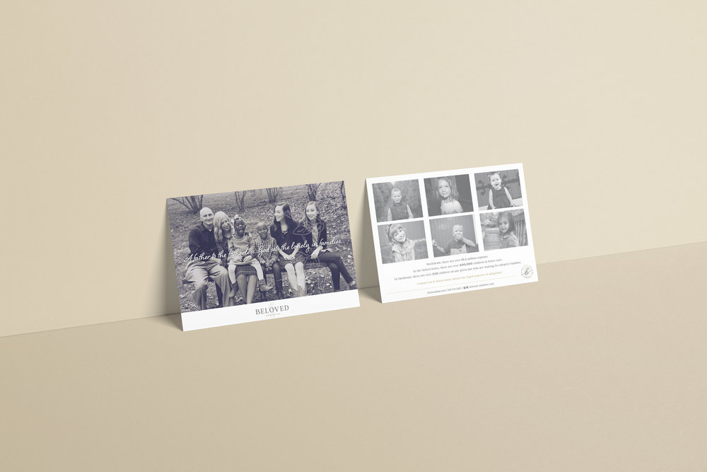 Beloved Adoption Law – adoption law firm – Hayley Bigham Designs – Tulsa Oklahoma Branding Studio – professional logo design - postcard