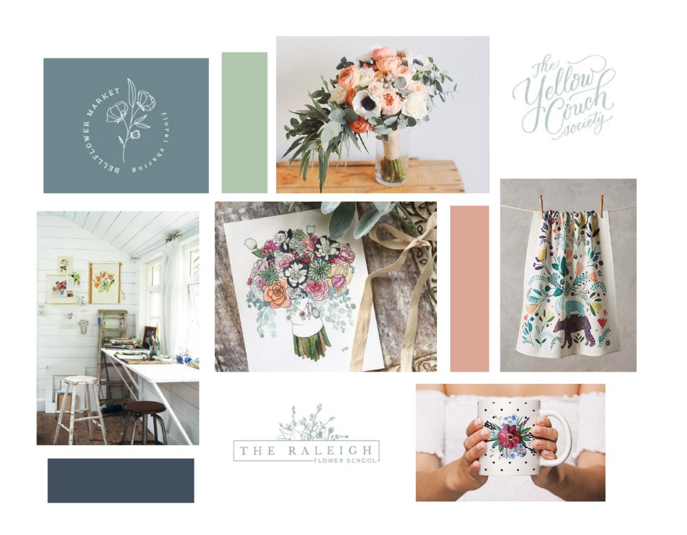 hayley bigham designs-tulsa graphic designer-Kristi Holland-Watercolor Artist-moodboard-logo design