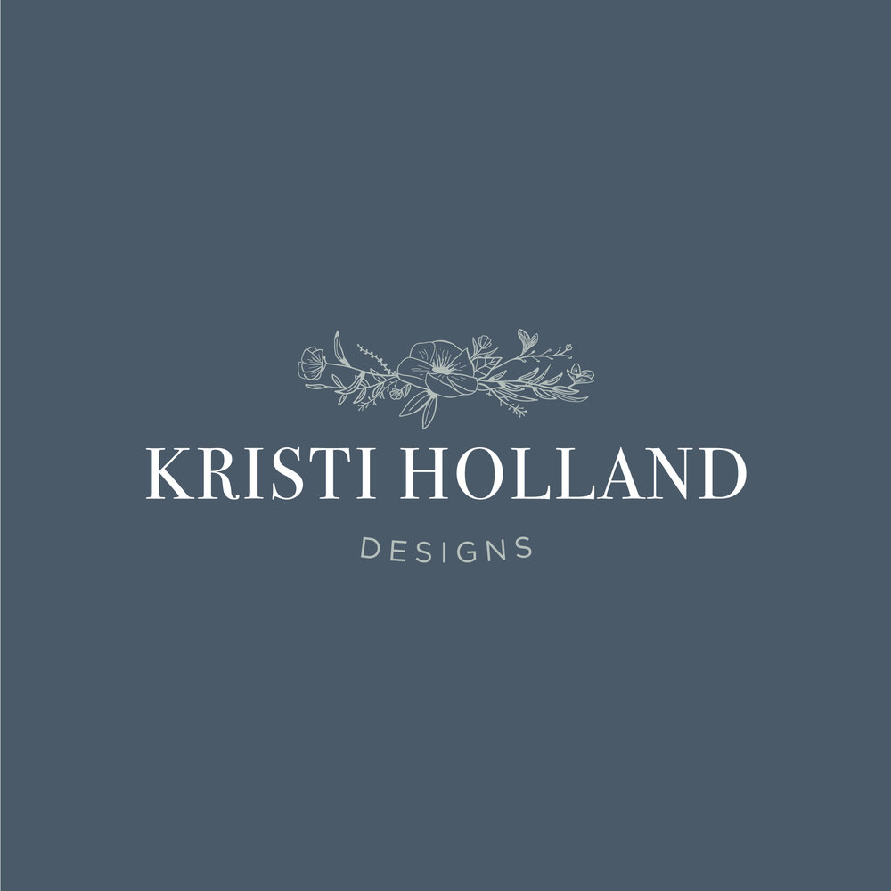 hayley bigham designs-tulsa graphic designer-Kristi Holland-Watercolor Artist-floral-logo design