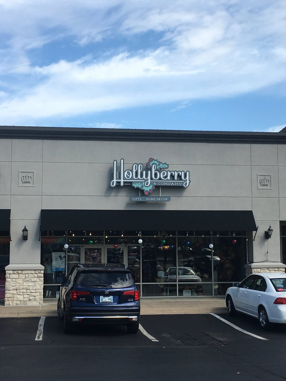 Hollyberry and Company – seasonal boutique – Hayley Bigham Designs – Tulsa Oklahoma Branding Studio – local gifts logo design and branding - signage design