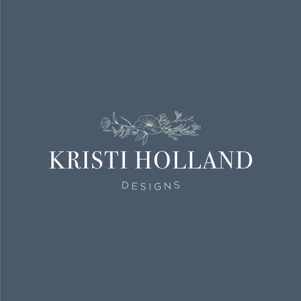 Kristi Holland Designs – custom watercolor painter – Hayley Bigham Designs – Tulsa Oklahoma Branding Studio – floral illustration logo