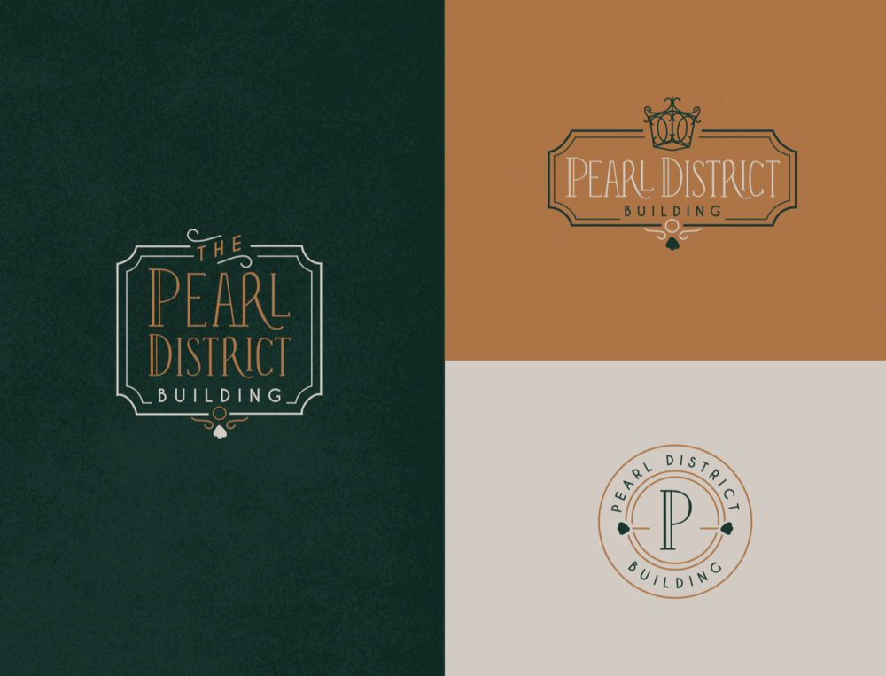 Pearl District Building-Tulsa-WeddingVenue-Branding-Speakeasy-Urban-ElegantLogo