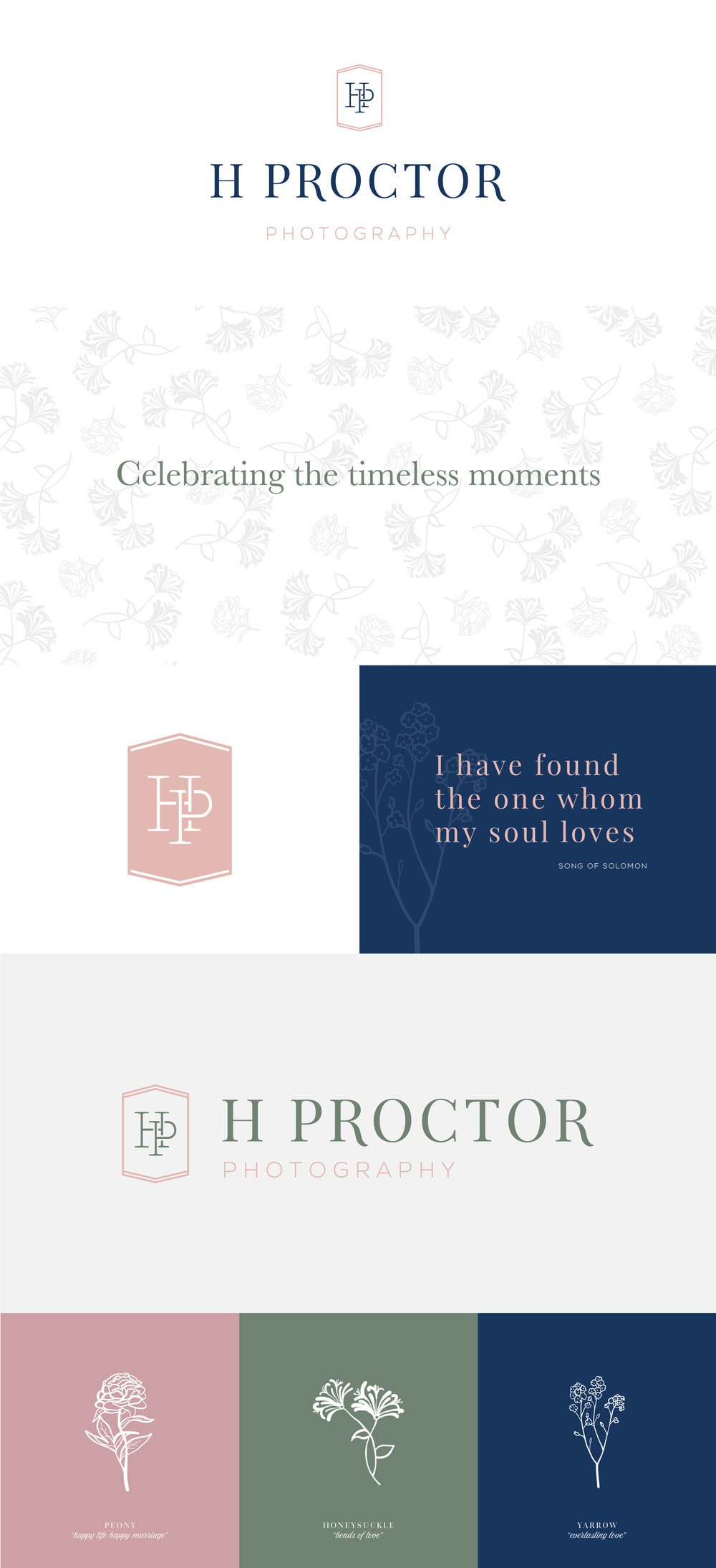 H Proctor Photographer – timeless romantic branding – Hayley Bigham Designs – Tulsa Oklahoma Branding Studio – professional monogram badge