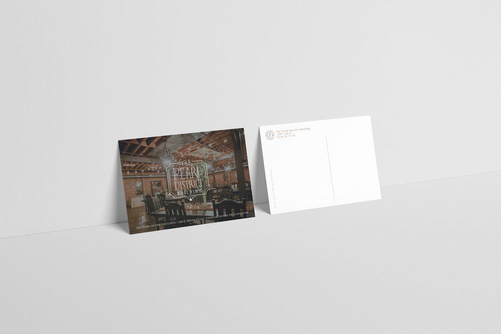 PearlDistrictVenue-wedding venue-Tulsa Oklahoma-postcard-wedding postcard-hayleybighamdesigns-tulsa graphic designer