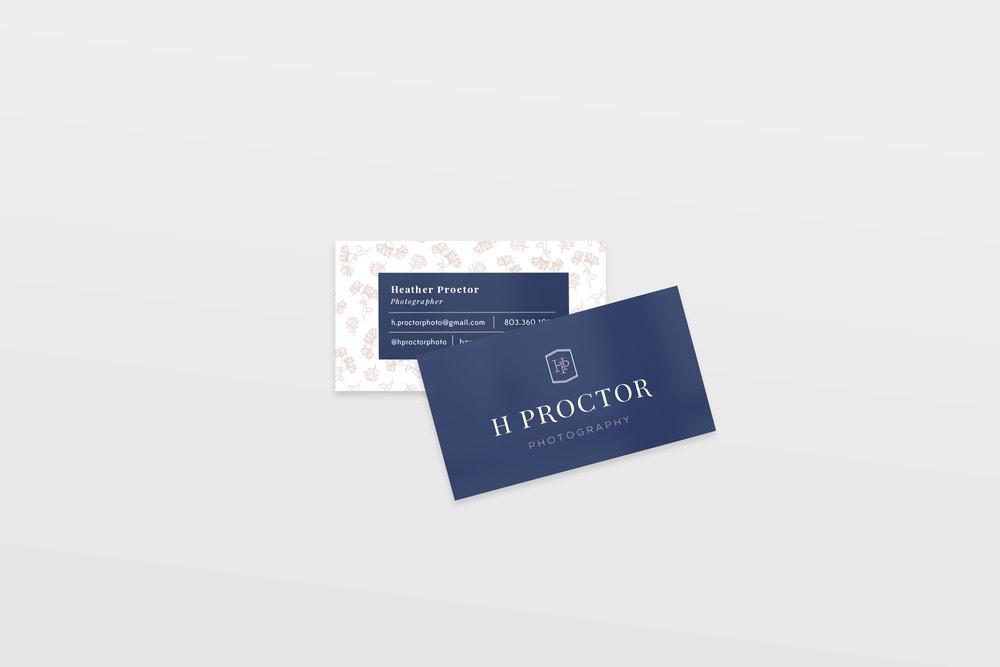 h proctor photography-wedding photographer-wedding business card-tulsa brand designer-hayley bigham designs