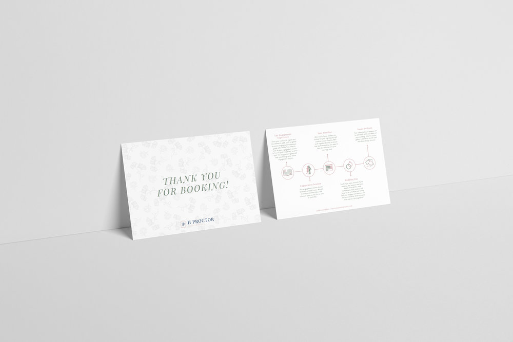 h proctor photography-wedding photographer-wedding postcard-tulsa brand designer-hayley bigham designs