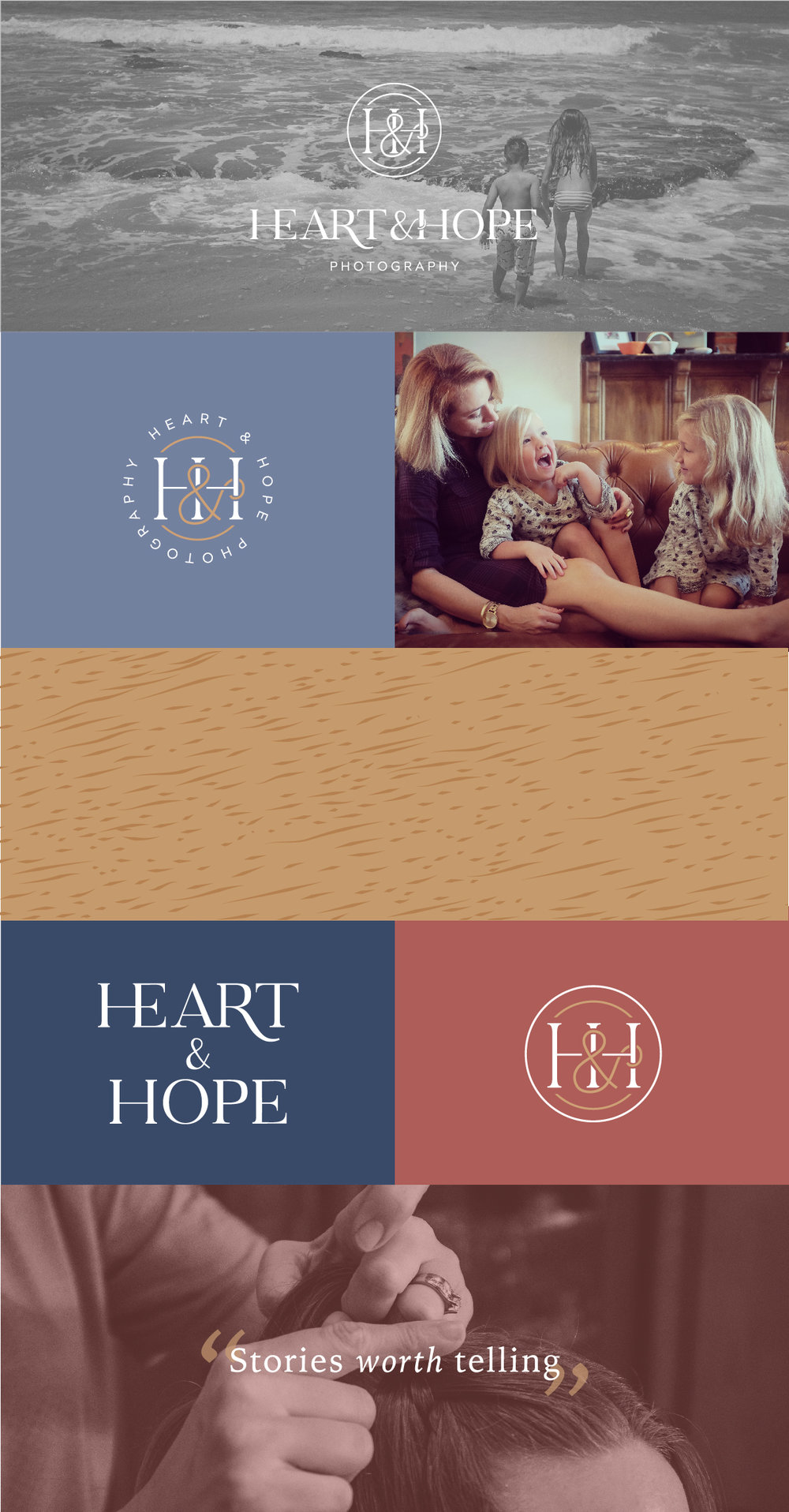Heart and Hope Photography - tulsa brand designer - documentary photography brand - oklahoma logo design - Hayley bigham designs