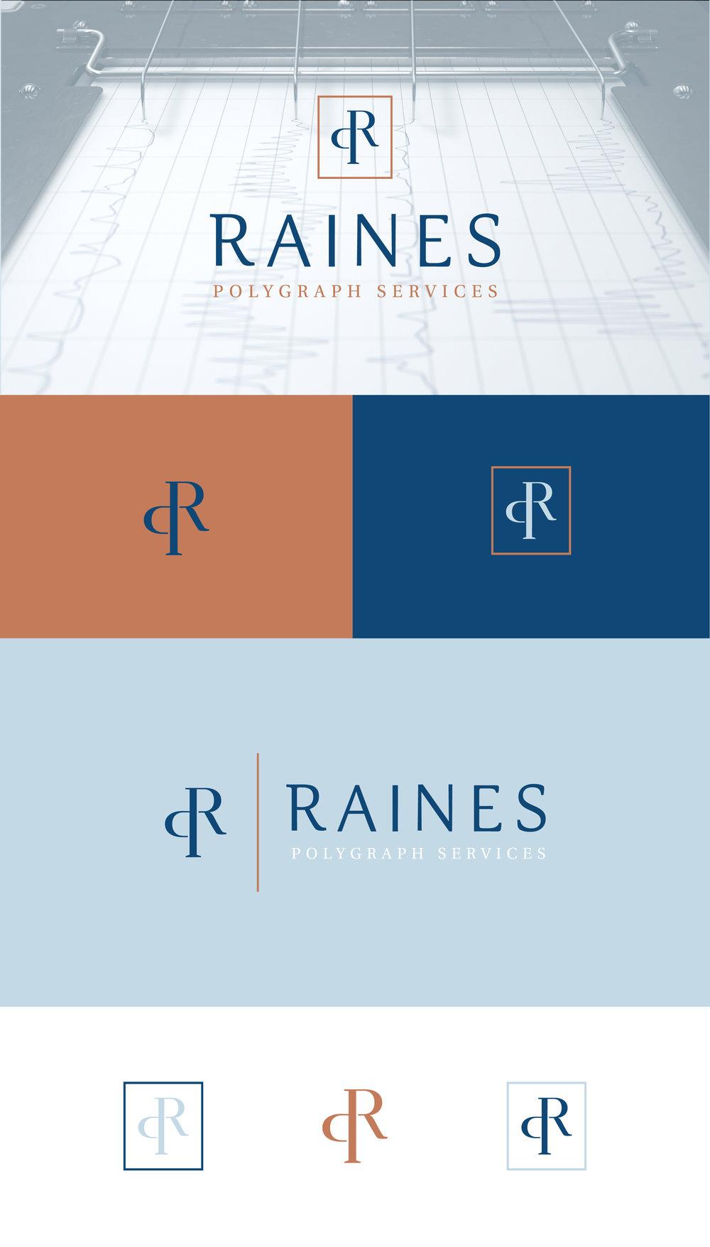 Raines Polygraph Services - logo design - tulsa brand designer - Hayley Bigham Designs