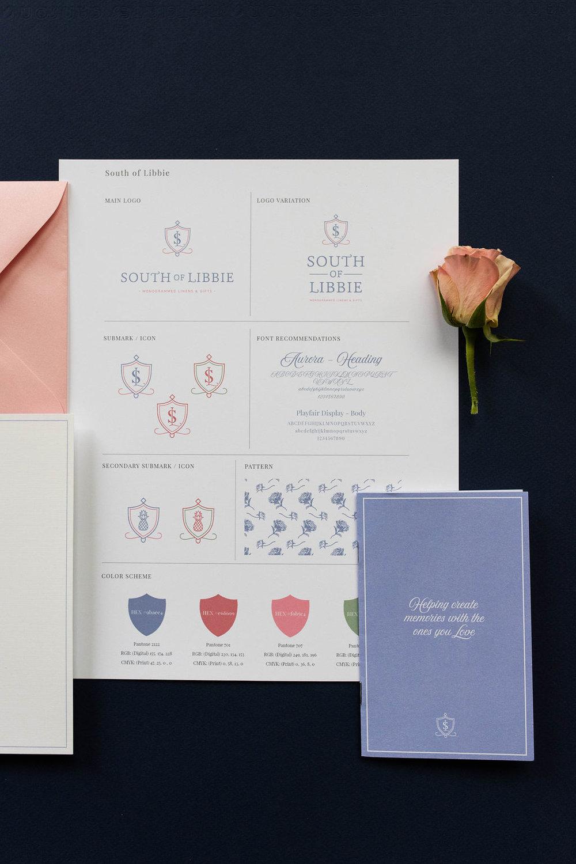 South of Libbie Branding – Stationery Suite – Hayley Bigham Designs – Tulsa Branding Studio – monogrammed linen company